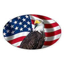 USA flag with bald eagle Decal