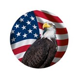 """Us flag with eagle 3.5"""" Round"""