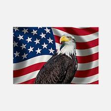 USA flag with bald eagle Rectangle Magnet