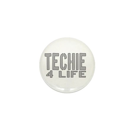 techie 4 life Mini Button (10 pack)