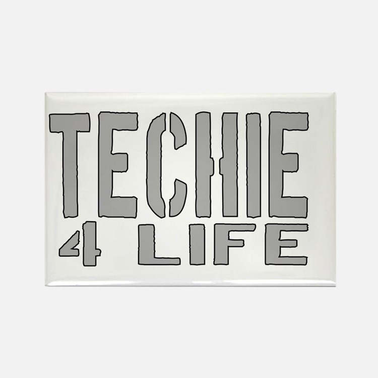 techie 4 life Rectangle Magnet (10 pack)