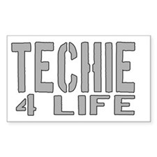 techie 4 life Rectangle Decal