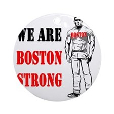 Boston Strong Man Round Ornament