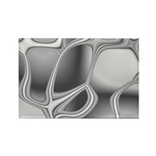 Liquid Silver Rectangle Magnet
