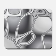 Liquid Silver Mousepad
