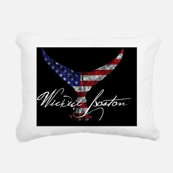 patriotic bluefin tuna Rectangular Canvas Pillow