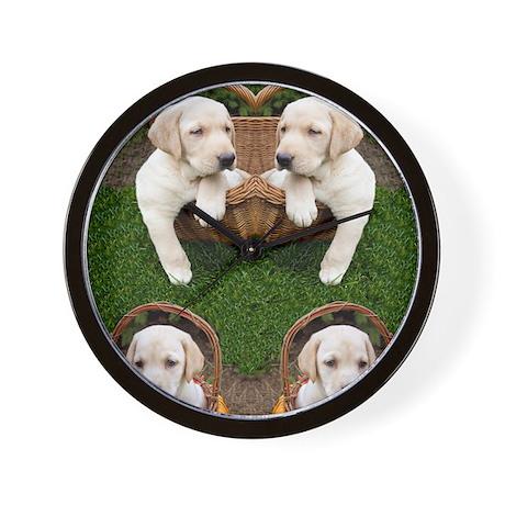 Cute Lab Puppy Wall Clock