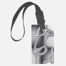 Liquid Silver Luggage Tag