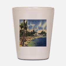 Vintage Coconut Beach Florida Postcard Shot Glass
