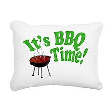 It's BBQ Time! Rectangular Canvas Pillow