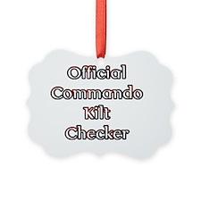 Official Commando Kilt Checker Ornament