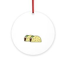 Taco Tuesday On Dark Round Ornament