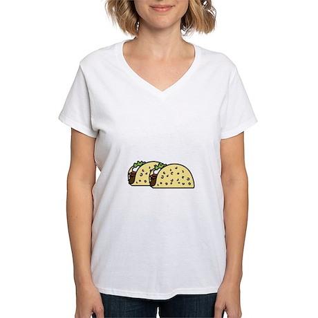 Taco Tuesday On Dark Women's V-Neck T-Shirt