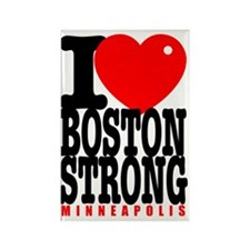 I Heart Boston Strong Minneapolis Rectangle Magnet
