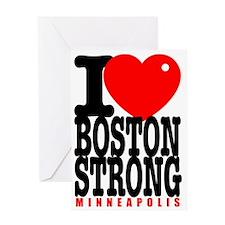 I Heart Boston Strong Minneapolis Greeting Card