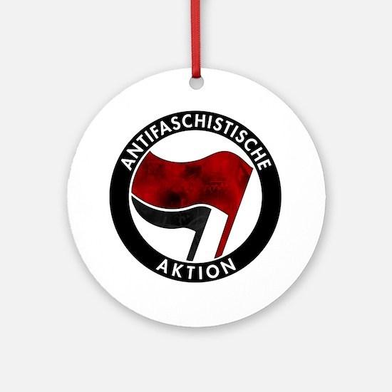 Antifa Logo Round Ornament