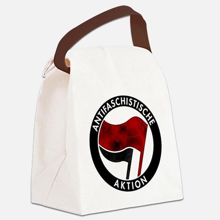 Antifa Logo Canvas Lunch Bag