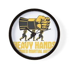 heavy-hands-mma-DKT Wall Clock