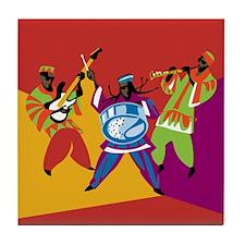 Caribbean Sounds Green Tile Coaster