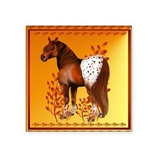 "Big Copper Appaloosa Square Sticker 3"" x 3"""