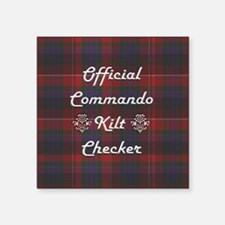 "Official Commando Kilt Chec Square Sticker 3"" x 3"""