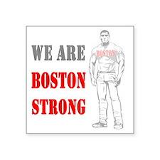 "Boston Strong Man Square Sticker 3"" x 3"""