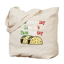 Taco Tuesday On Black Tote Bag