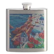 Greek Oil Painting Flask