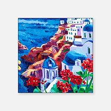 "Greek Oil Painting Square Sticker 3"" x 3"""