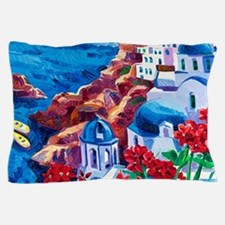 Greek Oil Painting Pillow Case