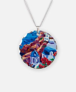Greek Oil Painting Necklace