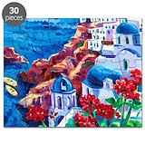 Santorini Puzzles
