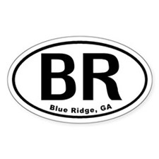 Blue Ridge, Georgia Oval Decal