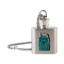 nurse cat 1 Flask Necklace