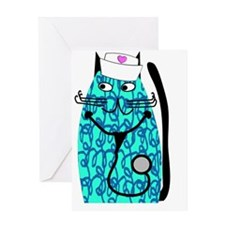 nurse cat 1 Greeting Card