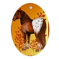 Big Copper Appaloosa Oval Ornament