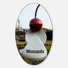 Minneapolis_2.41x4.42_iPhone3GHardC Sticker (Oval)
