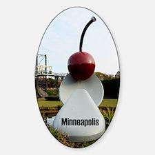 Minneapolis_7.16 x 10.28_KindleSlee Sticker (Oval)