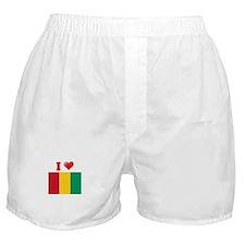 I love Guinea Flag Boxer Shorts