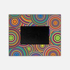 Rainbow Retro Circles Pattern Picture Frame