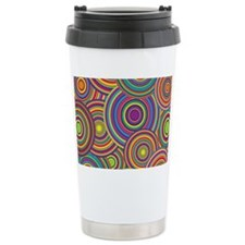Rainbow Retro Circles P Travel Mug