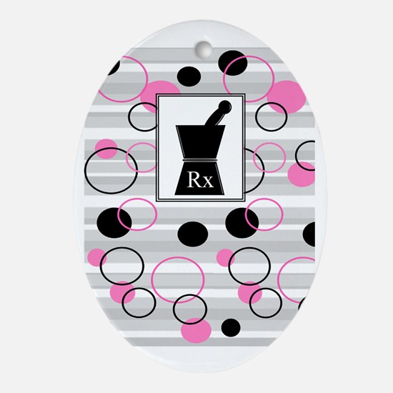 pharmacist C Oval Ornament
