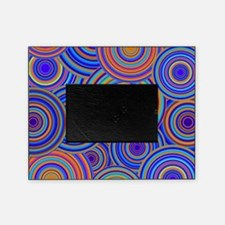 Blue Orange Retro Pattern Picture Frame