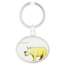 Ralph the Rhino Oval Keychain