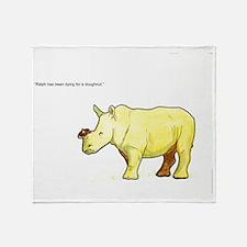 Ralph the Rhino Throw Blanket