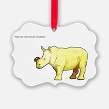 Ralph the Rhino Ornament