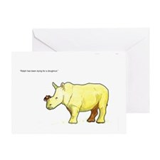Ralph the Rhino Greeting Card