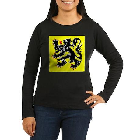 Lion of Flanders Women's Long Sleeve Dark T-Shirt