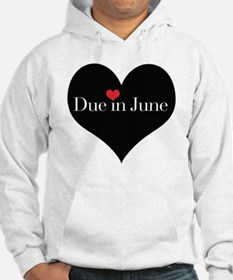 Due in June Heart Hoodie