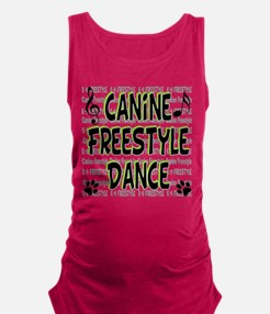 freestyle design words B.png Maternity Tank Top